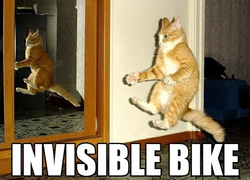 Invisible bike!