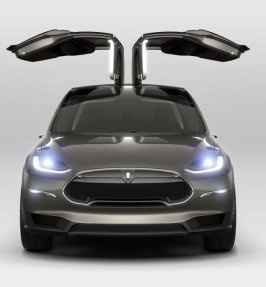 Tesla Unveils The Model X, An Electric CUV With Futuristic Gullwing-like Doors | TechCrunch